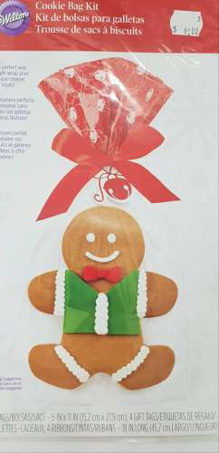 Gingerbread Man Cookie Treat Bags